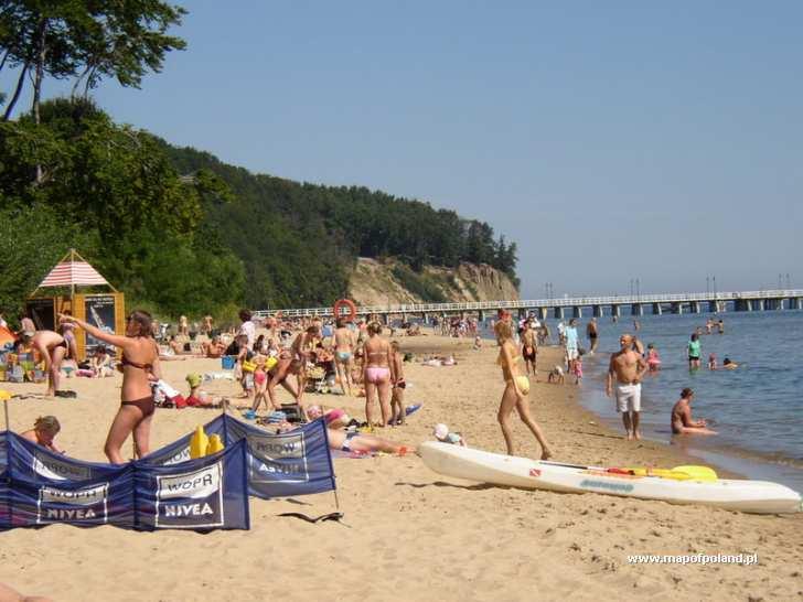Gdynia Poland  city pictures gallery : Plaża w Orłowie w Gdyni Gdynia zdjęcie 1640/2887