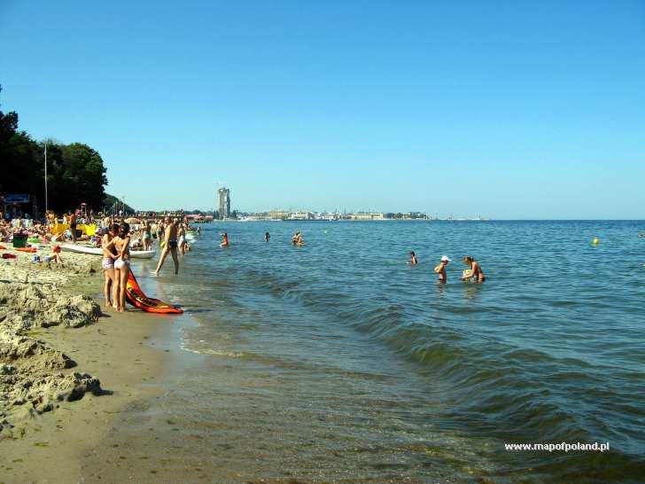 Gdynia Poland  City new picture : Plaża w Redłowie w Gdyni Gdynia zdjęcie 1643/2887