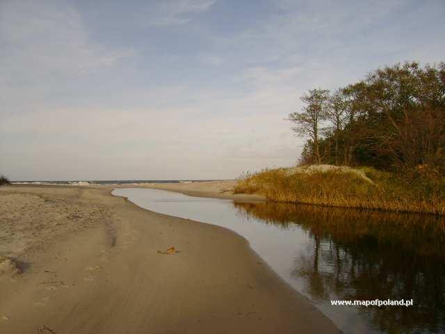 Kanał Liwka wpływający do Bałtyku - Niechorze