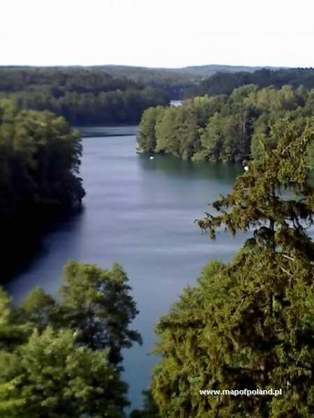 Widok z wieży na jezioro - Łagów