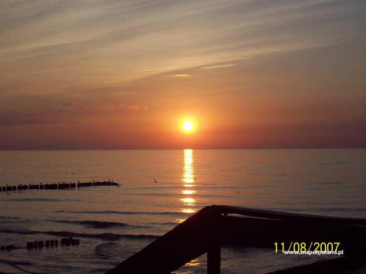 Zachód słońca nad morzem - Ustronie Morskie