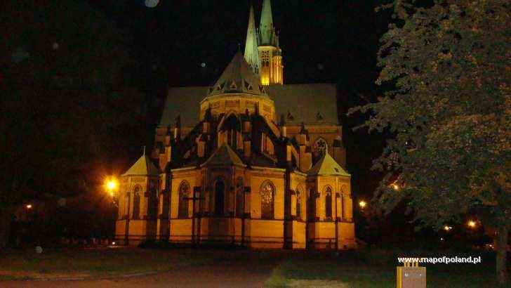 Katedra nocą - Łódź