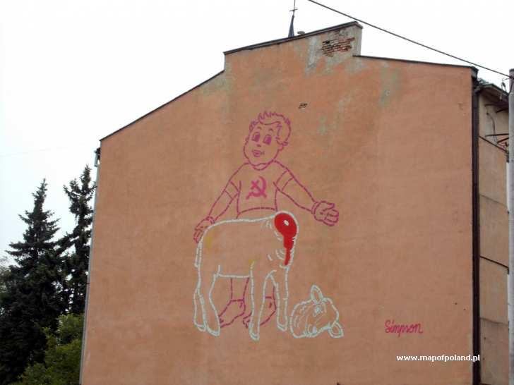 Mural na kamienicy przy ul kopernika w cz stochowie for Mural na tamie w solinie
